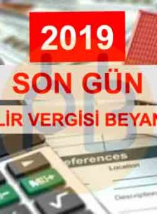 Kira Gelir Beyannamesi 2019 - Son Gün