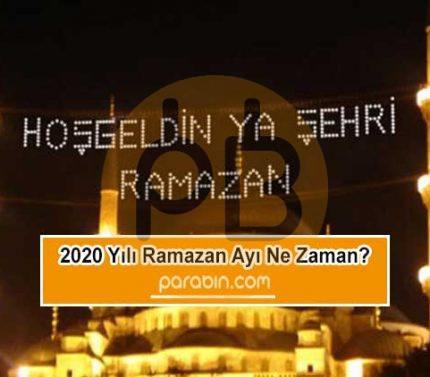 Ramazan başlangıcı ne zaman? Ramazan tatili kaç gün? 2020 yılı dini günleri