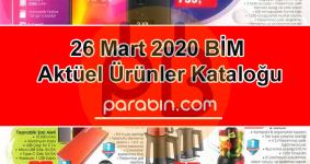 BİM Aktüel Ürünler Kataloğu 27 Mart 2020 Cuma Katalog