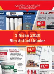 Bim 3 Nisan 2020 Aktüel Ürünler Kataloğu İndirimli Ürünler