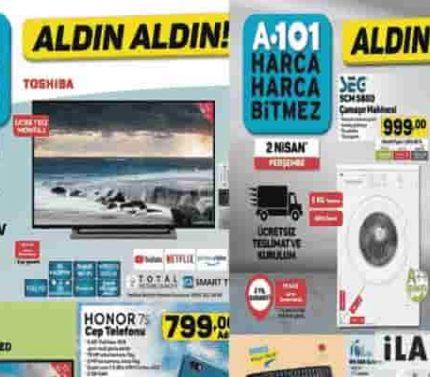 A101 Aldın Aldın İndirimli Ürünler Kataloğu 2 Nisan 2020 Perşembe